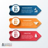 Vector Arrows For Infographic. Royalty Free Stock Images