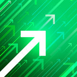 Vector arrows on green background Royalty Free Stock Photography