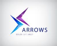 Vector arrows icon, logo isolated Royalty Free Stock Photo