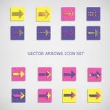 Vector arrows icon set. Royalty Free Stock Photography