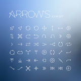 Vector arrows icon set Stock Image