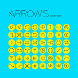 Vector arrows icon set Royalty Free Stock Photo