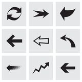 Vector arrows icons set Royalty Free Stock Image