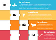 Vector arrows for infographic. Royalty Free Stock Photography