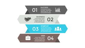 Vector arrows infographic. Business concept with options, parts, steps, processes. Circle arrows diagram for graph infographic presentation with steps parts Stock Image