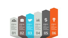 Vector arrows infographic. Business concept with options, parts, steps, processes. Circle arrows diagram for graph infographic presentation with steps parts Royalty Free Stock Images
