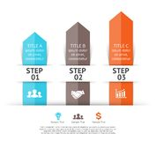 Vector arrows infographic. 3 steps to success. Royalty Free Stock Photography