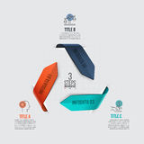 Vector arrows infographic. Template for cycle diagram, graph, presentation and chart. Business concept with 3 options, parts, steps or processes. Data Stock Image
