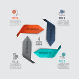 Vector arrows infographic. Template for cycle diagram, graph, presentation and chart. Business concept with 4 options, parts, steps or processes. Data Royalty Free Stock Photos