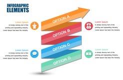Vector arrows infographic. Stock Photo