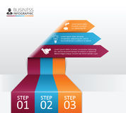 Vector arrows for infographic. Stock Images