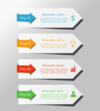 Vector arrows for infographic. Template for diagram, graph, presentation and chart. Business concept with 4 options, parts, steps or processes. Abstract Stock Photos