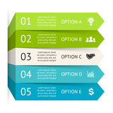 Vector arrows infographic. Template for diagram. Layout for your options or steps. Abstract template for background Stock Photography