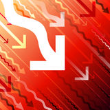 Vector arrows on red background Royalty Free Stock Photos