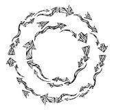 Vector arrows round frames. Stock Images