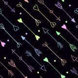 Vector arrows seamless pattern Royalty Free Stock Image