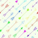 Vector arrows seamless pattern Stock Photos