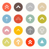 Vector Arrows Set in Circles Royalty Free Stock Photography
