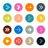 Vector Arrows Set in Circles Royalty Free Stock Images