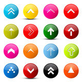 Vector Arrows Set. Colorful Arrows in Circles Royalty Free Stock Photography