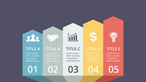 Vector arrows timeline infographic, diagram chart, graph presentation.. Circle arrows diagram for graph infographic presentation with steps parts options Royalty Free Stock Image