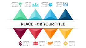 Vector arrows triangles timeline infographic, diagram chart, graph. Business concept with 8 options, parts, steps. Circle arrows diagram for graph infographic Royalty Free Stock Images
