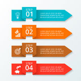 Vector arrows workflow infographic. Template for diagram, graph, presentation and chart. Business concept with 4 options, parts, steps or processes. Layout Stock Photo