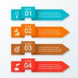 Vector arrows workflow infographic. Stock Photo