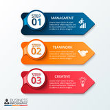 Vector arrows workflow infographic. Template for diagram, graph, presentation and chart. Business concept with 3 options, parts, steps or processes. Layout Stock Photo