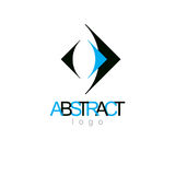 Vector art abstract figure. Business innovation idea creative lo. Go Stock Photos