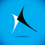 Vector art abstract figure. Creative business icon. Creative and conceptual sign Royalty Free Stock Photography