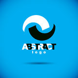 Vector art abstract figure. Creative business icon. Trendy creative design Royalty Free Stock Image