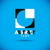 Vector art abstract figure. Creative business icon. Trendy creative design Stock Photography