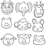 Vector art animal hand draw doodles Royalty Free Stock Photography