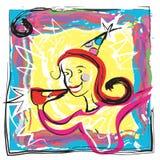 Vector Art Birthday Party Invitation Fun Fotografía de archivo libre de regalías
