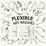 Vector Art Brushes Collection formado flecha flexible ilustración del vector