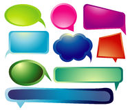 Vector Art of Chat with Colorful Royalty Free Stock Photography