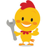 Vector art chick with tools Stock Photography