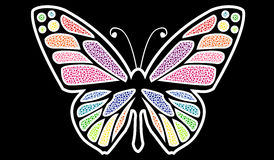 Vector art colorful butterfly Royalty Free Stock Photo