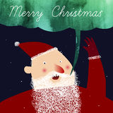 Vector art with cute cartoon Santa Claus Royalty Free Stock Images