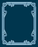 Vector art deco card. Vector art deco frame with space for text Royalty Free Stock Photography