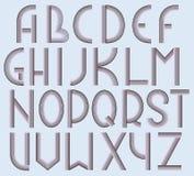 Vector Art Deco Fon. T. Complete Alphabet Royalty Free Stock Photography