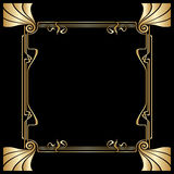 Vector art deco frame. Vector art deco golden frame with space for text Stock Photography