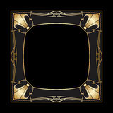 Vector art deco frame. Stock Photo