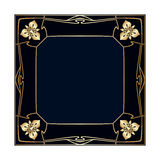 Vector art deco frame. Royalty Free Stock Images