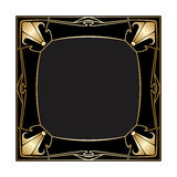 Vector art deco frame. Royalty Free Stock Photo