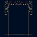 Vector art deco frame. Vector art deco golden frame with space for text Royalty Free Stock Photos