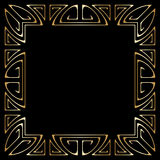 Vector art deco frame. Vector art deco golden frame with space for text Royalty Free Stock Photography