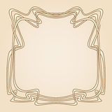 Vector art deco frame. Vector invitation card with art deco frame and space for text Royalty Free Stock Photos