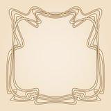 Vector art deco frame. Royalty Free Stock Photos
